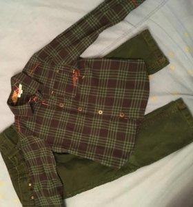 Рубашка и джинсы фирмы KENZO
