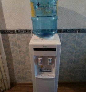 Новый напольный кулер с холодильником lime