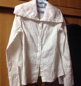 Белая блузка 46 размер