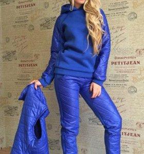 Спортивный костюм, тройка, утепленная 44-46р
