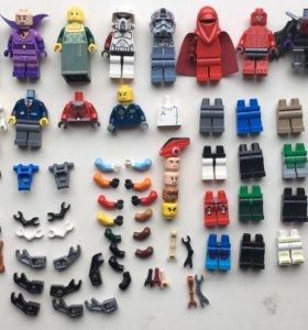 Лего части фигурок, оружие и акссесуары.