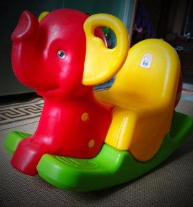 Качалка детская слоник