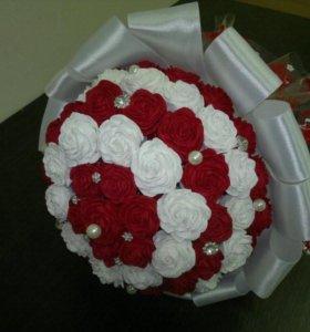 Корзинки с цветами из гофрированной бумаги