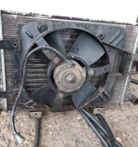 Радиатор охлаждения и вентилятор ВАЗ 2107