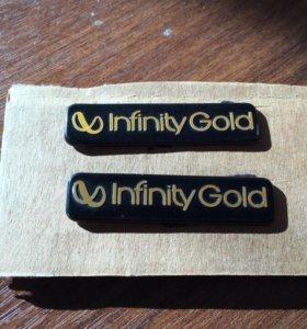 Эмблема лого шильдик Infinity Gold золотой