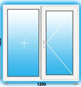 Готовое пластиковое окно Novotex 1200х1200 (ШхВ)