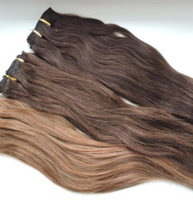 Натуральные волосы на заколках (клипсах)