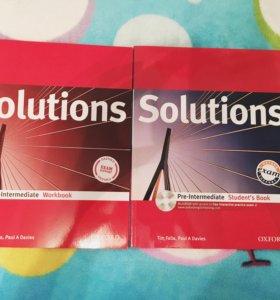 Учебник и тетрадь Solutions
