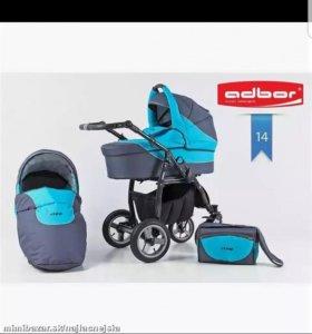 Детская коляска 2 в 1, ADBOR ZIPP BLUE.
