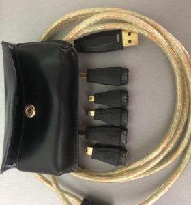 Кабель USB c разными мини-разъёмами usb