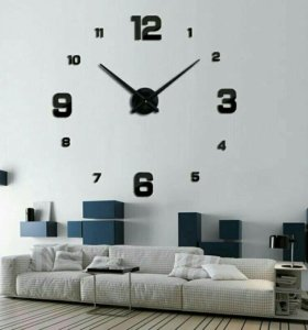Большие настенные объемные 3D часы