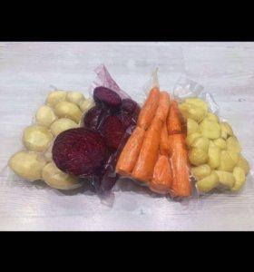 Чищенные Овощи в вакууме