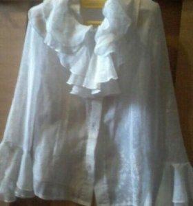 Школьные блузки на девочку 122-128 см