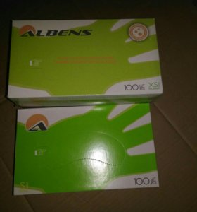 Латексные опудреные перчатки