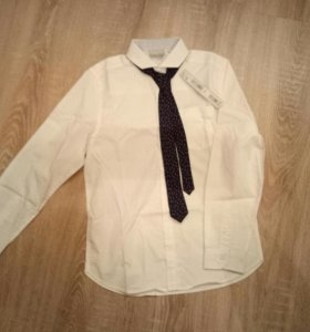 рубашка с галстуком next новая