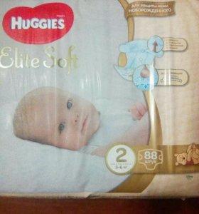 """Подгузники """"Huggies Elite Soft"""" 88 шт. 2 номер"""