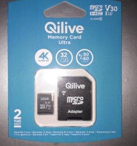 Карта памяти Qilive Micro SD 32GB Class 10. USB 3.