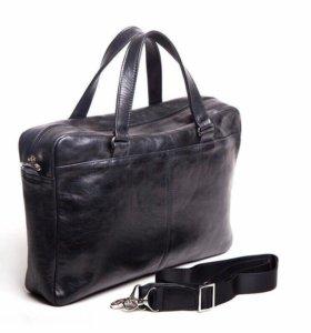 Мужская черная сумка М10 (кожа)