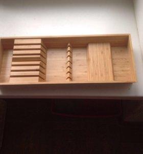 Вставка в ящик из бамбука для ножей