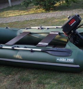АКВА 2900,мотор MARINE 3.5 л.с