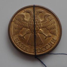 1 рубль 1992 поворот 180 градусов