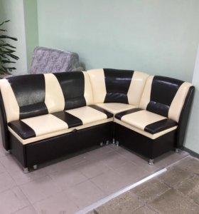 Кухонный угловой диван со спальным местом, 184х140