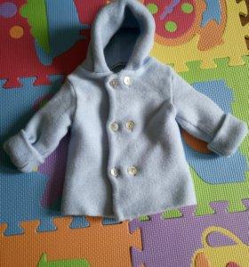 Детское пальто из шерсти мериноса