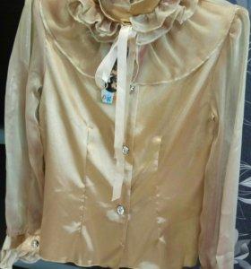 Блузка нарядная детская р. 116-146