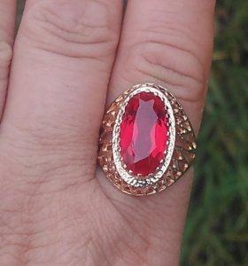 Шикарное кольцо 583пр винтаж СССР 20,5р-21