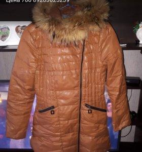 Куртка внутри перо