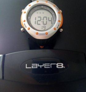 Часы спортивные Layer 8 с пульсомером новые
