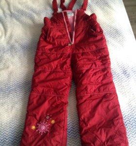 Зимняя куртка и штаны 5-6 лет