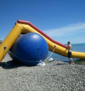 Надувная водная горка