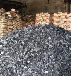 Уголь для мангала ресторанный 10 кг, 5кг