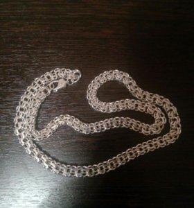 Цепь серебряная новая