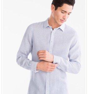 Мужская рубашка Slim Fit размер L