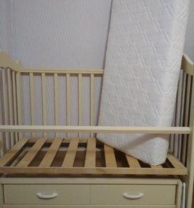 Кроватка детская с матрасом Plitex