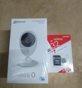 Wi-Fi камера Izviz mini 0 с картой 32 гб.