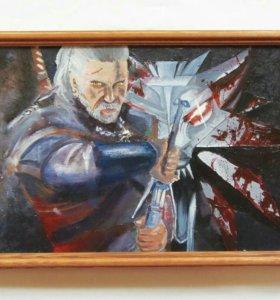 Ведьмак, картина (масло)