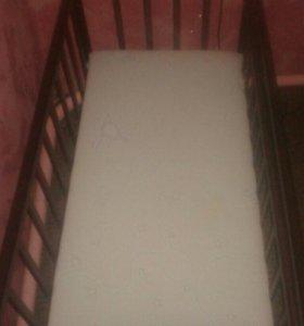 Кроватка-маятник и матрас