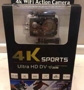 Новая экшн Камера 4К WiFi Sport (в упаковке)