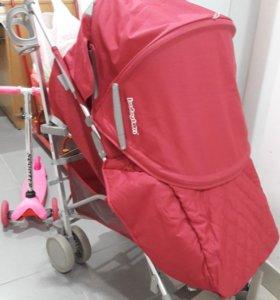 Бордовая коляска трость babyton