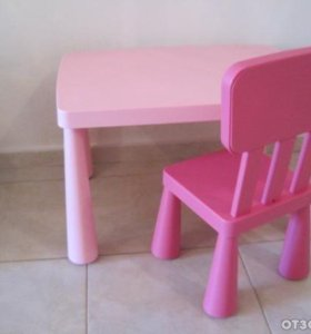 Детский столик и стульчик икеа