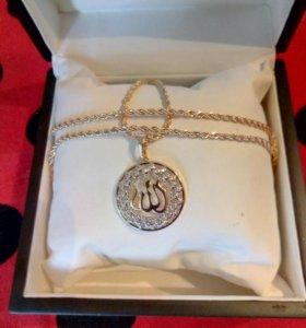 ЦЕПЬ и мусульманская подвеска из Дубайского золота