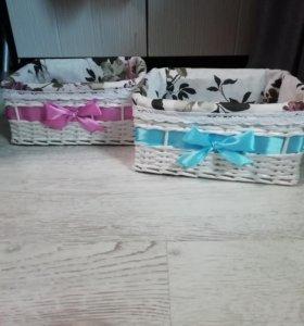 Подарочные плетёные корзины