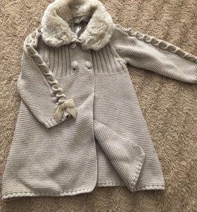 Вязаное пальто mayoral 80