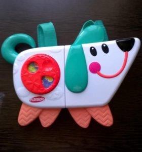 Игрушка-собака переносная, раскладная
