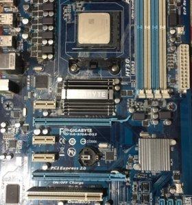 Материнская плата GA-970A-DS3 + AMD FX 4100