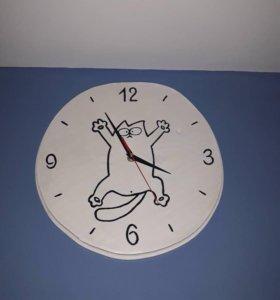 Часы настенные массив дуба