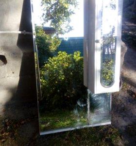 Подвесная тумба-зеркало для ванной